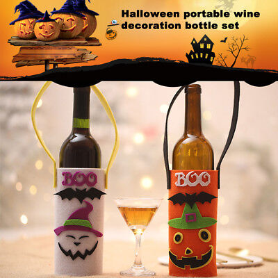Home Halloween Champagne Holder Wine Bottle Bag Pumpkin Ghost Decoration