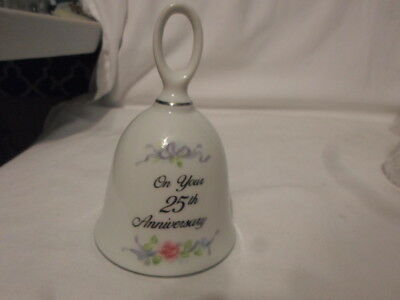 25th Anniversary Porcelain Bell by RUSS 4.5""