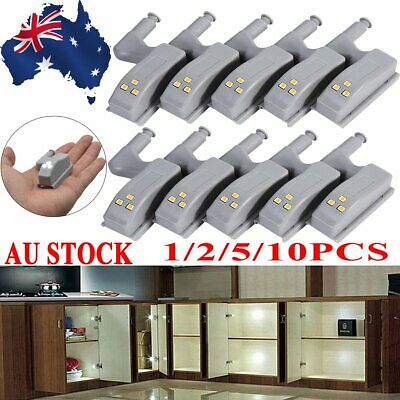 1/2/5/10pcs Kitchen Room Cabinet Closet Indoor Wardrobe Hinge LED Sensor Light