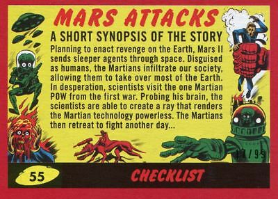 Mars Attacks The Revenge Red [99] Base Card #55 Checklist