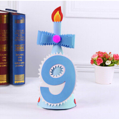 Baby Boy Girl First Birthday Hat Numbers Headband Tiara Party Photo Props Z