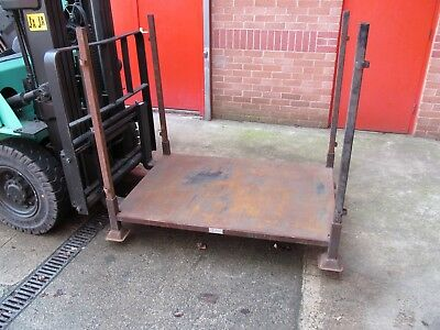 Government Surplus 4 Post (Detachable) Steel Metal Stillage Cage Crate Pallet