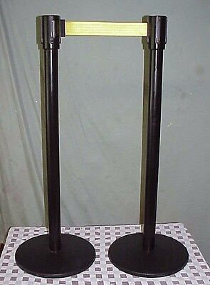 NOS Beltrac Contempo Retractable Yellow Belt Stanchion Post Emedco BB882 DBAR22