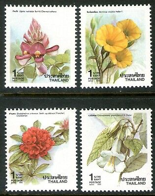 Thailand 1990 New Year Flowers set of 4 Mint Unhinged