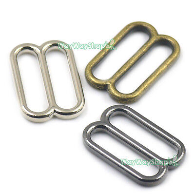 """1"""" 25mm Wide mouth Metal Round Triglides Rings Webbing Slides For Leather Straps"""