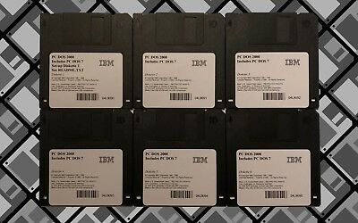 Vintage Ibm Pc-Dos 2000 (7.1) Operating System Floppy Disks 386/486 Free P&p!