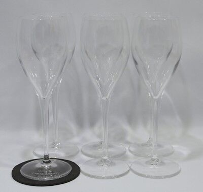 LAURENT-PERRIER CHAMPAGNE 6 Verres flûtes 15 cl marquage pied NEUF