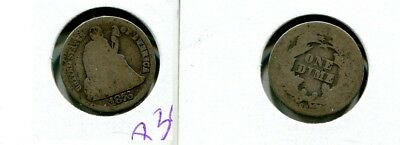 1876 Cc Liberty Seated Silver Dime Type Coin Good 8395K