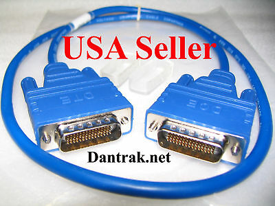 Blue 1.5FT Back to Back DCE/DTE DB60 Crossover Cable WIC-1T