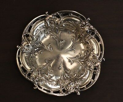 """Les Six Fleurs by Reed & Barton Sterling Silver Candy/Nut Dish 4 5/8""""  N 330"""