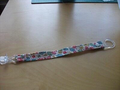 Handmade dummy clip with cath kidston and MAM adapter
