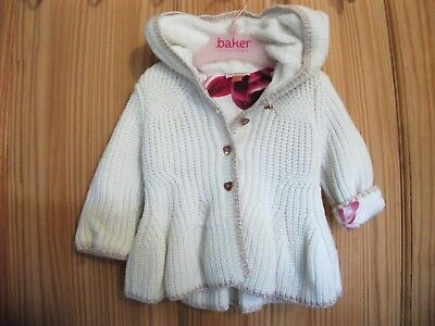 Girls TED BAKER Hooded Cardigan. AGE 3/6 Months.
