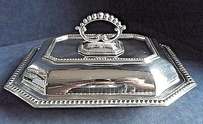 """SUPERB Large 11"""" ~ SILVER Plated ~ SERVING DISH ~ c1910"""