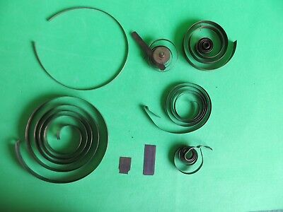 Job Lot Antique Clock parts spares -  MAIN SPRINGS - and other parts