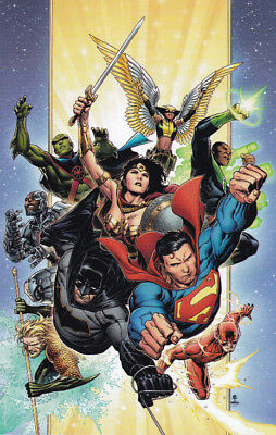 """JUSTICE LEAGUE (2018) #1 - """"THANK YOU"""" GIFT VIRGIN VARIANT Cover - Bagged"""
