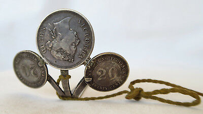 Beautiful Antique Hair Pin With Silver Coins Timor Belu Voc Era