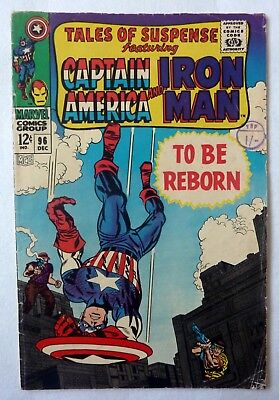 Tales Of Suspense 96 Iron Man Captain America Silver Age 1967 VG+/NF- Condition