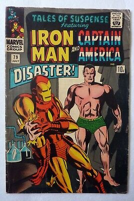 Tales Of Suspense 79 Iron Man Captain America Silver Age 1966 VG/VG+ Cosmic Cube