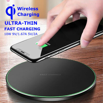 Fast Charger Pad Qi Wireless Metal Mat For Samsung Galaxy S9/S8/S7+iPhone 8+ X