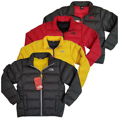NEW The North Face Boys Andes 550 down Insulated jacket Grey Red Yellow Winter