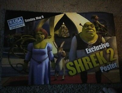 Lot Of 9 Exclusive Shrek 2 Movie Posters