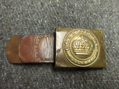 Pre Wwi Imperial German Prussian Army 1847 Pattern Belt Buckle W/ Tab