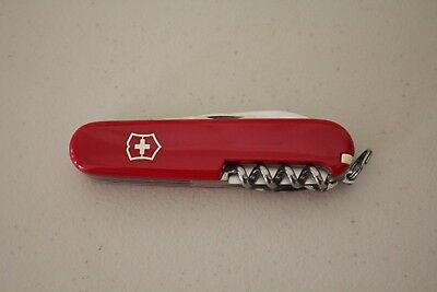 Unused Victorinox 6 function 3.5 inch knife with Walgreens logo and slogan