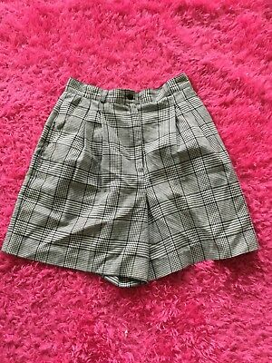 Vintage Plaid High Waisted Shorts