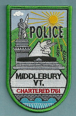 Middlebury Vermont Police Patch
