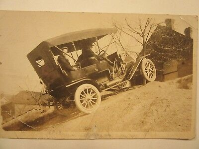 1908 or 1909 EMF Vintage Automobile. RPPC. Practicing for Hill Climb?