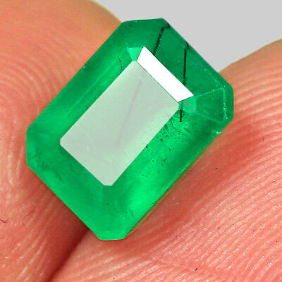 1.75Ct 100% Natural Awesome Deep Green Zambia Emerald Cut Collection MQM29