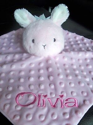 Personalised Easter Bunny  Baby Cuddle Blanket Comforter Security Blankie   Gift