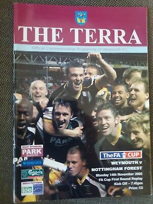 Weymouth v Nottingham Forest, 2005-06, FA Cup