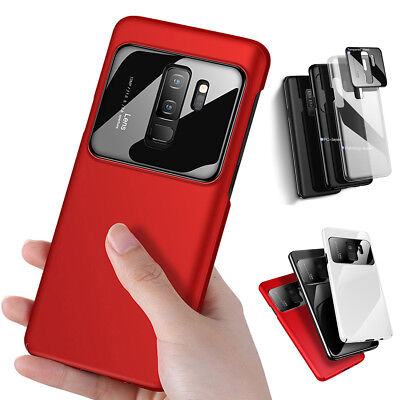 For Samsung Galaxy S9 S9+ Plus Tempered Glass Camera Protector Hard Cover Case