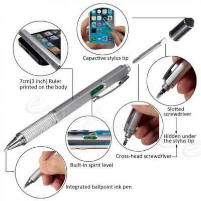 Multifunction Creative Ballpoint Pen Screwdriver Ruler Stationery School Supply