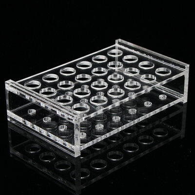 24 Holes Test Tube Rack Testing Tubes Holder Storage Plastic Stand Lab Supplies