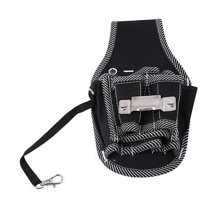 Black Electrician Tool Pouch Bag Multi Propose Waist Bag Thicken Belt BS
