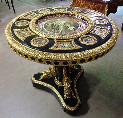 Luxury At It Its Best Very Heavy Carved And Painted Louis Xv Style Center Table