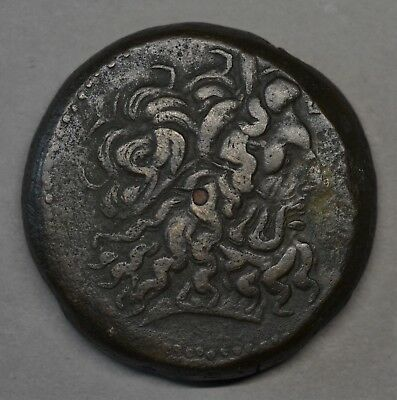 HUGE ANCIENT GREEK BRONZE COIN. PTOLEMY IV, 221-205 BC. 40 mm, 68.8 g. MASSIVE!