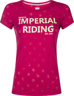 Imperial Riding Damen T-Shirt Festival allover Peace Design Gr. S = 36