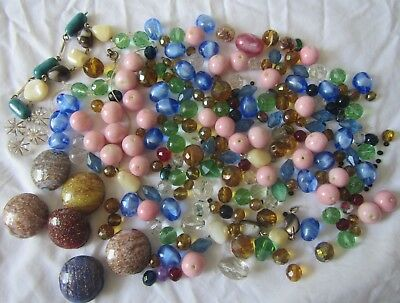Vintage Job Lot of Glass Beads from old necklaces