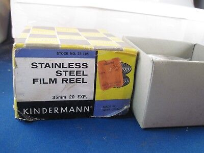 vintage  Kindermann Stainless Steel Film Reel in box