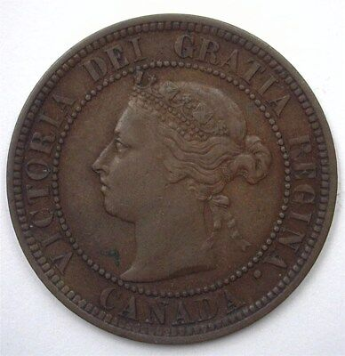 Canada 1888 Large Cent  Choice About Uncirculated