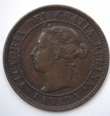 Canada 1901 Large Cent  Choice About Uncirculated