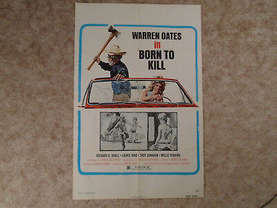 Born To Kill 1975 Movie Poster Warren Oates Troy Donahue  One Sheet
