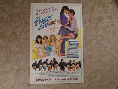 Private School For Girls 1983 Advance Movie Poster Phoebe Cates One Sheet