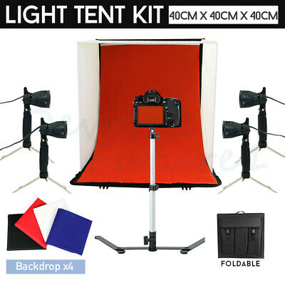 1350W Photo Video Backdrop Black White Green Screen SOFTBOX+Background Stand Kit