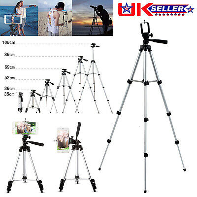Camera Camcorder Adjustable Tripod Stand Support for Canon Sony Fuji Phones UK