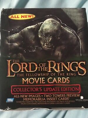 Lord of the Rings: The Fellowship of The Ring Movie Cards W/ Box