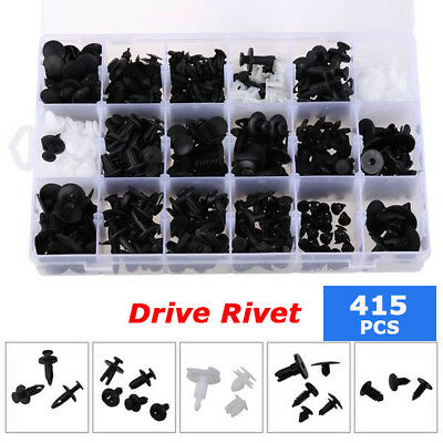 415Pcs Car Retainer Push Pin Rivet Fasteners Trim Moulding Clip Assortments Case